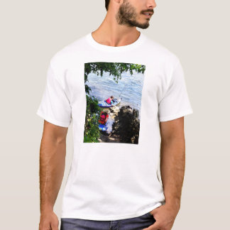 Father and Son Launching Kayaks T-Shirt
