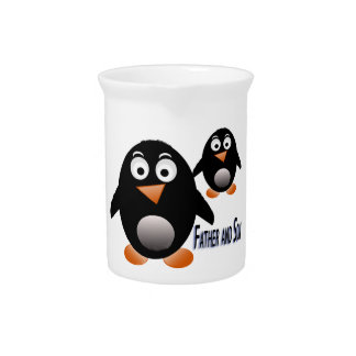 Father and Son Penguin Multiple Product selected Pitcher