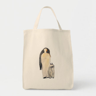 """""""Father And Son Penguin"""" Tote Bag"""
