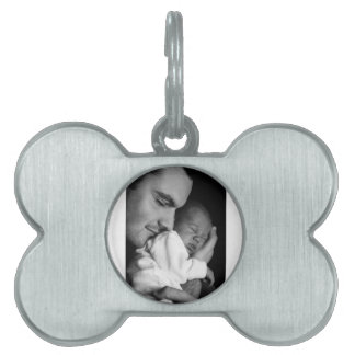 Father and Son Pet ID Tag