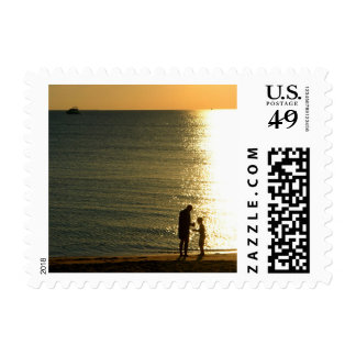 father and son postage stamps