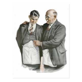 Father and Son Postcard