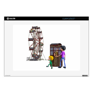 """Father and Son ready to ride a Ferris Wheel 15"""" Laptop Decals"""