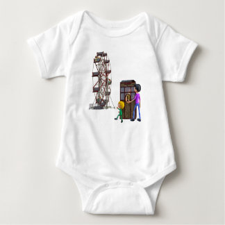 Father and Son ready to ride a Ferris Wheel Baby Bodysuit