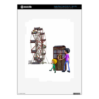 Father and Son ready to ride a Ferris Wheel iPad 3 Decals