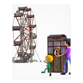 Father and Son ready to ride a Ferris Wheel Letterhead