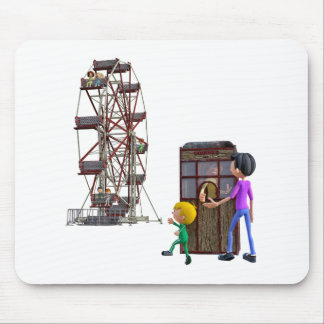 Father and Son ready to ride a Ferris Wheel Mouse Pad