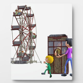 Father and Son ready to ride a Ferris Wheel Plaque