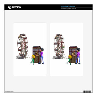 Father and Son ready to ride a Ferris Wheel Skins For Kindle Fire