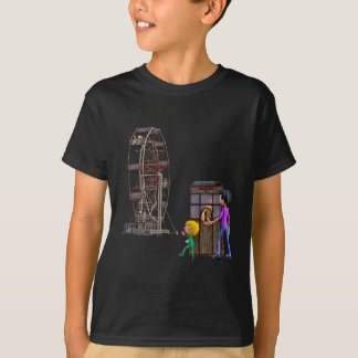 Father and Son ready to ride a Ferris Wheel T-Shirt