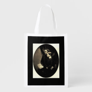 Father and Son Reusable Grocery Bags