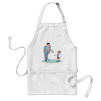 Father And Son Soccer Apron