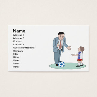 Father And Son Soccer Business Card