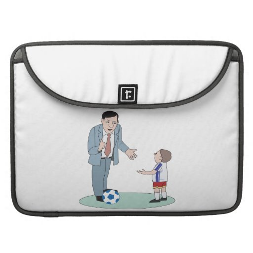 Father And Son Soccer MacBook Pro Sleeve