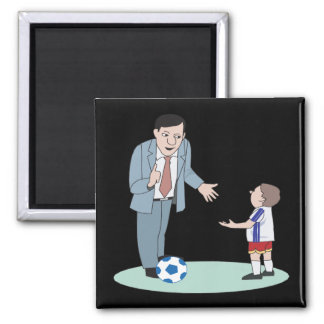 Father And Son Soccer Magnet