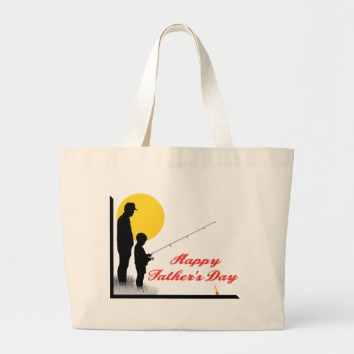 Father and Son Tote Bags