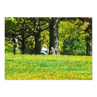 Father and Son Under the Trees Card
