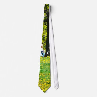 Father and Son Under the Trees Neck Tie