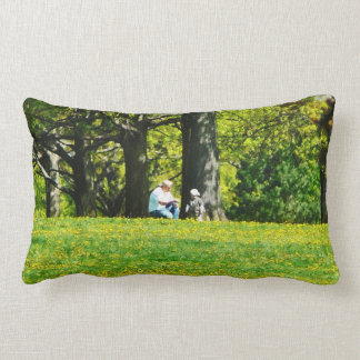 Father and Son Under the Trees Pillows