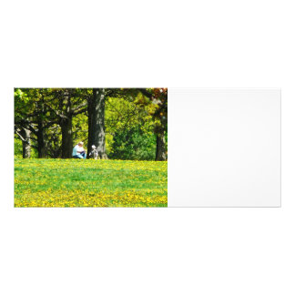 Father and Son Under the Trees Rack Card