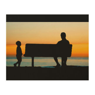 Father and Son Wood Print