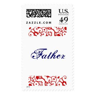 Father Art Deco I Postage Postage Stamp