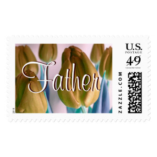 Father - Beige Tulips I Postage Postage Stamp
