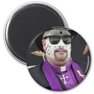Father Bertha 2 Inch Round Magnet