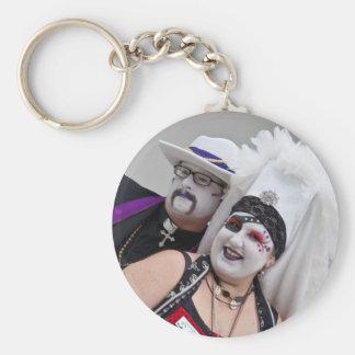 Father Bertha and Sister Sorenda Basic Round Button Keychain