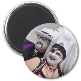 Father Bertha and Sister Sorenda 2 Inch Round Magnet