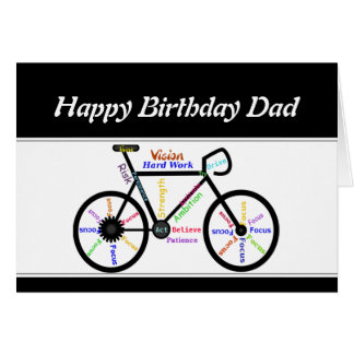 Father Birthday Motivational Bike Bicycle Cycling Card