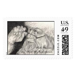 """""""Father Christmas 2007"""" Postage Stamp"""