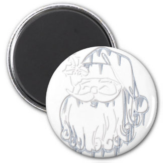 Father Christmas 2 Inch Round Magnet