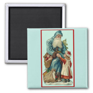 Father Christmas 2 Inch Square Magnet