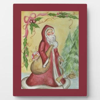 Father Christmas Art Plaque