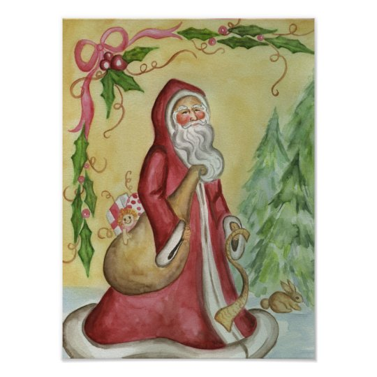 Father Christmas Art Poster