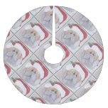 Father christmas brushed polyester tree skirt