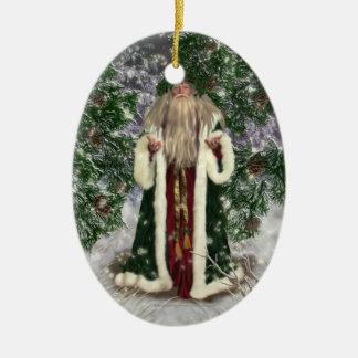Father Christmas Ceramic Ornament