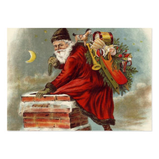 Father Christmas Chimney Rooftop Business Cards