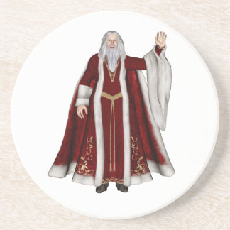 Father Christmas Drink Coaster