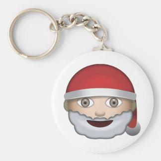 Father Christmas Emoji Keychain