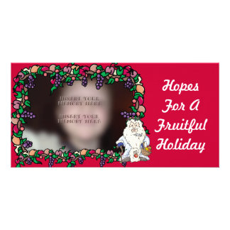 Father Christmas Fruiful Holiday Photo Cards