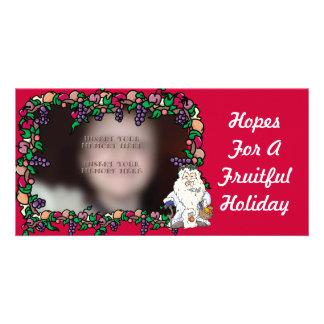 Father Christmas Fruiful Holiday Photo Cards