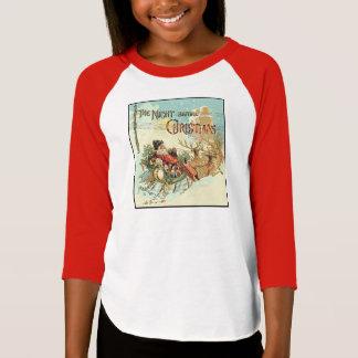 Father Christmas Girls Vintage Santa Claus Shirt
