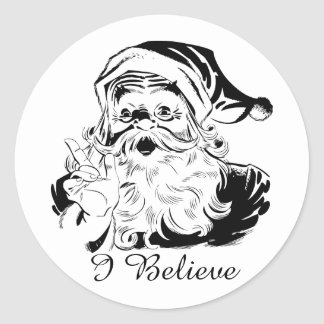 Father Christmas I Believe Sticker Large