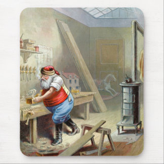Father Christmas in his workshop Mouse Pad