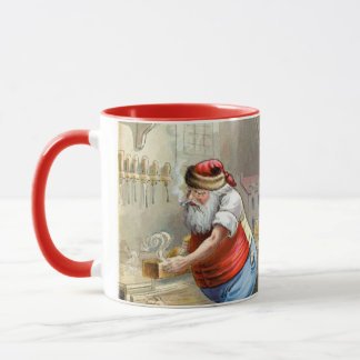 Father Christmas in his workshop Mug