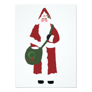 "Father Christmas 5.5"" X 7.5"" Invitation Card"