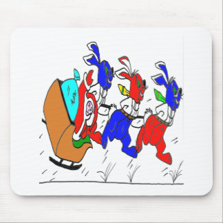 FATHER CHRISTMAS LAPINS2.png Mouse Pad