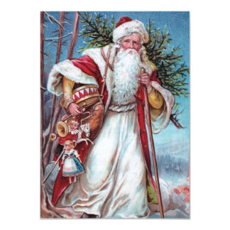 Father Christmas On His Way Personalized Invitation